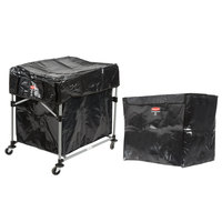 Rubbermaid Laundry Cart, 8 Bushel Deluxe Collapsible X-Cart with Large Black Cover and Extra 8 Bushel Bag