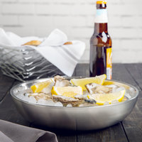 American Metalcraft DWSEA10 10 inch Stainless Steel Double Wall Seafood Tray