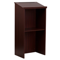 Flash Furniture MT-M8830-LECT-MAH-GG Mahogany Floor Lectern
