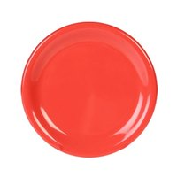 Thunder Group CR012RD 11 3/4 inch Orange Wide Rim Melamine Plate - 12/Pack