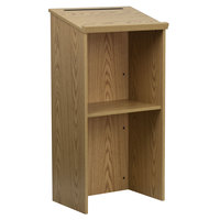 Flash Furniture MT-M8830-LECT-OAK-GG Oak Floor Lectern