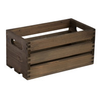 American Metalcraft WTV12 12 1/4 inch x 6 1/4 inch x 6 inch Vintage Wood Crate