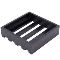 American Metalcraft WBLS 9 inch x 9 inch x 2 3/8 inch Black Small Wood Crate