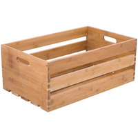 American Metalcraft WTBA20 20 1/2 inch x 12 1/2 inch x 8 inch Bamboo Wood Crate