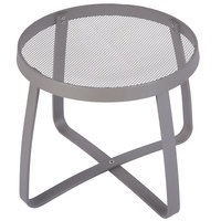 BFM Seating DVL18R-TS Maze 18 inch Round Titanium Silver Steel Side Table