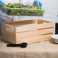 American Metalcraft WTN20 20 1/2 inch x 12 1/2 inch x 8 inch Natural Wood Crate