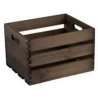 American Metalcraft WTV10 10 1/4 inch x 10 1/4 inch x 12 1/2 inch Vintage Wood Crate