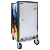 Cres Cor HC2-UA-11 Fire-N-Ice Cube Cordless Insulated Outdoor Hot / Cold Holding Cabinet with Solid Door and Transport Slides