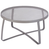 BFM Seating DVL30R-TS Maze 30 inch Round Titanium Silver Steel Lounge Table