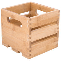American Metalcraft WTBA6 6 1/4 inch x 5 3/4 inch x 5 3/4 inch Bamboo Wood Crate