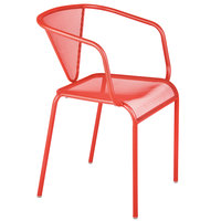 BFM Seating DV355GE Venice Beach Grenadine Stackable Steel Armchair