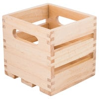 American Metalcraft WTN6 6 1/4 inch x 5 3/4 inch x 5 3/4 inch Natural Wood Crate