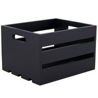 American Metalcraft WTBL10 10 1/4 inch x 10 1/4 inch x 12 1/2 inch Black Wood Crate