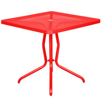 BFM Seating DVN3232GEU Nexus 32 inch Square Grenadine E-Coated Steel Dining Table