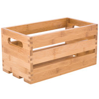 American Metalcraft WTBA12 12 1/4 inch x 6 1/4 inch x 6 inch Bamboo Wood Crate