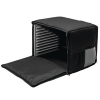 Cres Cor CHB6-1220 21 inch x 15 inch x 14 inch Black Soft-Sided Heavy-Duty Heated / Insulated Food Delivery Bag - Holds (4) Full Size Food Pans - 120V