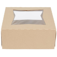 Southern Champion 24293K 9 inch x 9 inch x 4 inch Kraft Auto-Popup Window Pie / Bakery Box - 150/Case