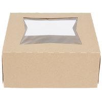 Southern Champion 24293K 9 inch x 9 inch x 4 inch Kraft Auto-Popup Window Pie / Bakery Box   - 150/Case
