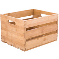 American Metalcraft WTBA10 10 1/4 inch x 10 1/4 inch x 12 1/2 inch Bamboo Wood Crate