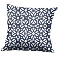 BFM Seating PH5101-PLX Luxe Indigo Canvas Throw Pillow