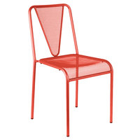 BFM Seating DV455GE Venice Beach Grenadine Stackable Steel Side Chair