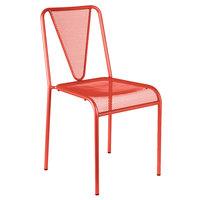 BFM Seating DV455GE Venice Beach Grenadine Stackable Steel Side Chair
