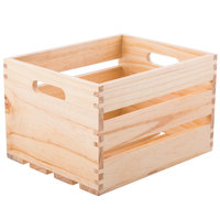 American Metalcraft WTN10 10 1/4 inch x 10 1/4 inch x 12 1/2 inch Natural Wood Crate