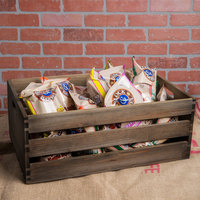 American Metalcraft WTV20 20 1/2 inch x 12 1/2 inch x 8 inch Vintage Wood Crate