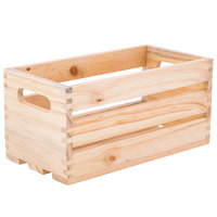 American Metalcraft WTN12 12 1/4 inch x 6 1/4 inch x 6 inch Natural Wood Crate
