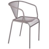 BFM Seating DV355TS Venice Beach Titanium Silver Stackable Steel Armchair