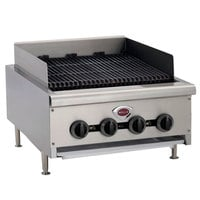Wells HDCB-2430G Natural Gas Heavy Duty 24 inch Charbroiler - 80,000 BTU