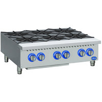 Globe GHP36G 36 inch Countertop Gas Hot Plate - 132,000 BTU