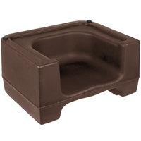 Carlisle 711001 Brown Plastic Booster Seat - Dual Seat