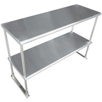 Advance Tabco EDS-18-60 Stainless Steel Double Deck Knock Down Overshelf - 60 inch x 18 inch