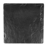 Elite Global Solutions M10 Fo Slate Square Faux Black Slate Melamine Shelf - 10 inch x 10 inch x 5/8 inch