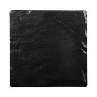 Elite Global Solutions M10 Fo Slate Square Faux Black Slate Melamine Serving Board - 10 inch x 10 inch