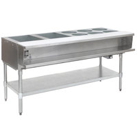 Eagle Group AWTP4-1 Gas Eight Pan Sealed Well Water Bath Steam Table with Galvanized Legs and Safety Pilot