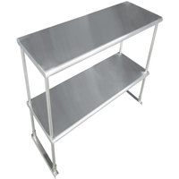 Advance Tabco EDS-18-48 Stainless Steel Double Deck Knock Down Overshelf - 48 inch x 18 inch