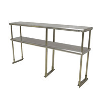 Advance Tabco EDS-18-96 Stainless Steel Double Deck Knock Down Overshelf - 96 inch x 18 inch