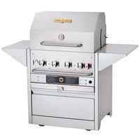 Crown Verity MBI-30 Natural Gas Hotel Series 58 1/2 inch Grill - 64,500 BTU