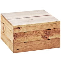 Cal-Mil 3628-10-99 Madera Reclaimed Wood Square Crate Riser - 12 inch x 12 inch x 10 inch