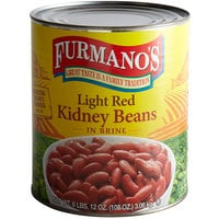Furmano's #10 Can Light Red Kidney Beans
