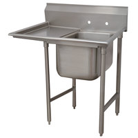 Advance Tabco T9-1-24-18L Regaline One Compartment Stainless Steel Commercial Sink with Left Drainboard - 43 inch Long, 16 inch x 20 inch x 12 inch Compartment