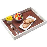 Cal-Mil 3592-15 Stackable Two-Tone Room Service Tray - 21 1/2 inch x 15 inch x 2 1/2 inch