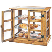 Cal-Mil 3621-99 Madera Reclaimed Wood 3 Tier Paneled Bakery Display Case - 25 inch x 17 inch x 23 inch