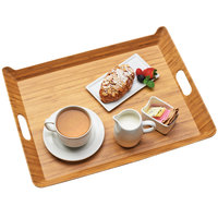 Cal-Mil 3563-60M Bamboo Melamine Room Service Tray - 20 inch x 15 1/2 inch x 2 inch