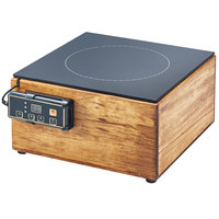 Cal-Mil 3633-99 Madera Reclaimed Wood Countertop Induction Cooker - 120V, 1600W