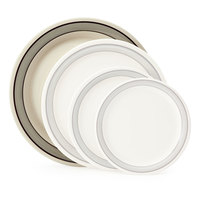 GET NP-10-CA 10 1/2 inch Diamond Cambridge Narrow Rim Plate - 12/Case