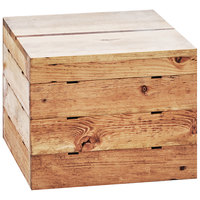 Cal-Mil 3628-4-99 Madera Reclaimed Wood Square Crate Riser - 12 inch x 12 inch x 4 inch