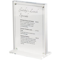Cal-Mil 3567-46 Clear Card Holder - 4 inch x 6 inch